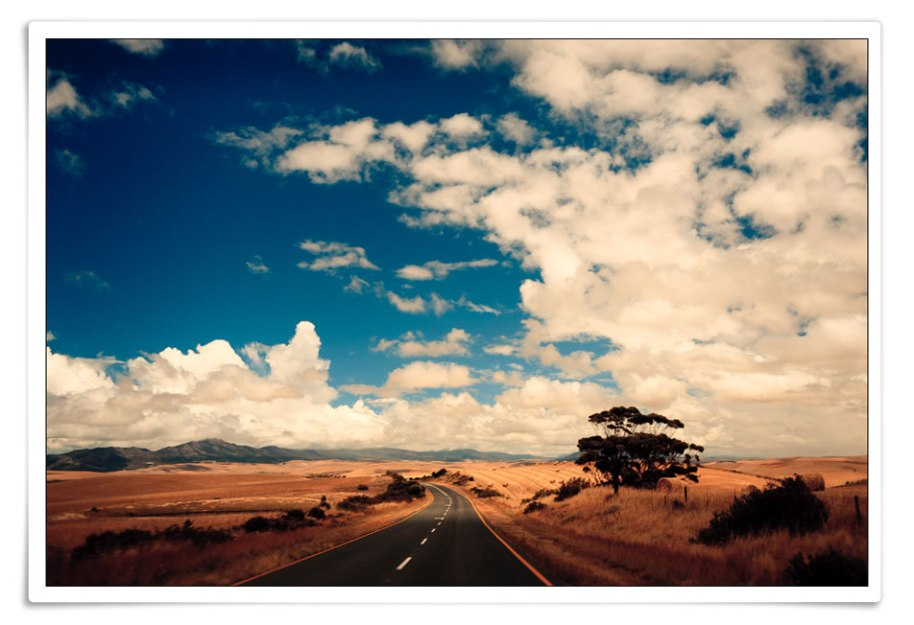 The open road awaits, travel!